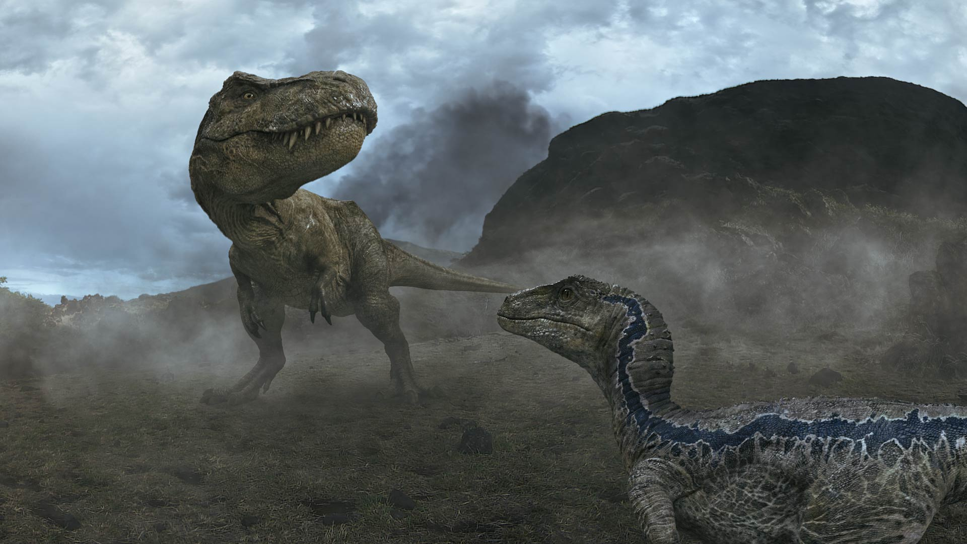 Still from Jurassic World: Blue