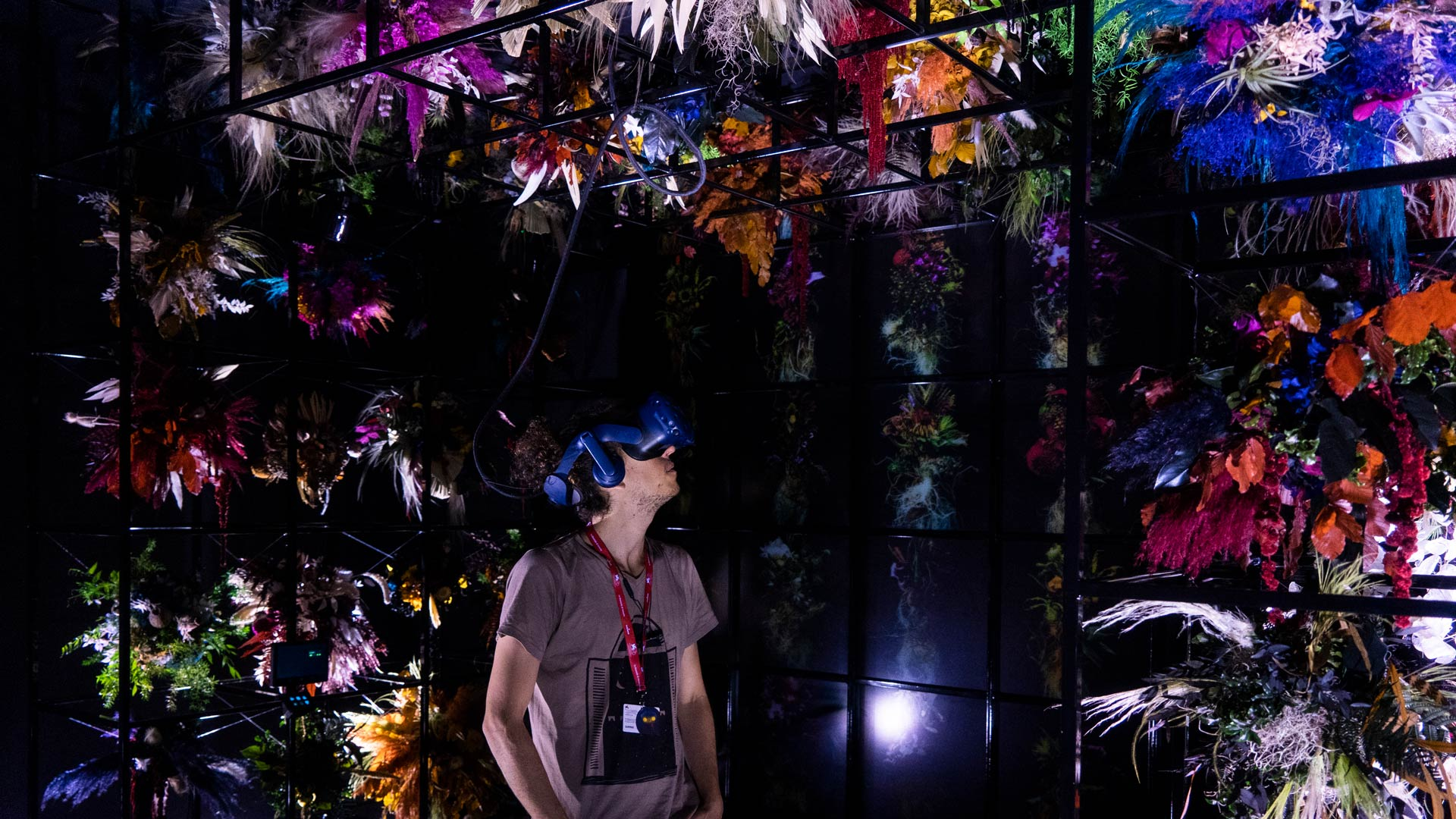 A Life in Flowers installation at Venice VR