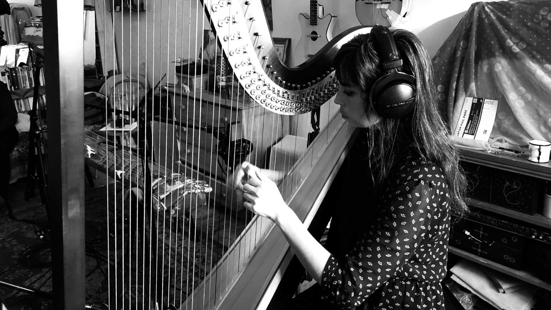 Composer and harpist Sarah Pagé